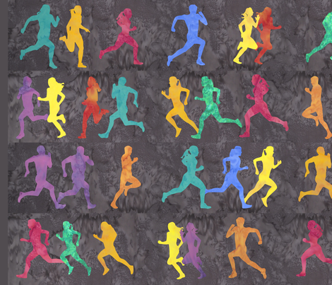 Runners Dark Grey fabric by jvclawrence on Spoonflower - custom fabric