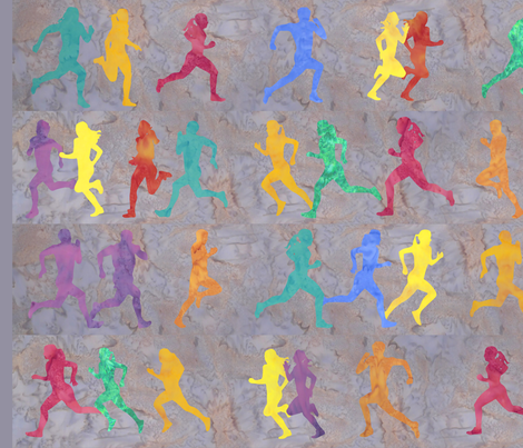 Runners Light Grey fabric by jvclawrence on Spoonflower - custom fabric