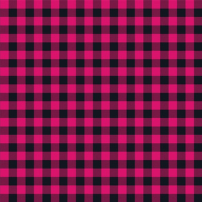 Magenta and Black gingham