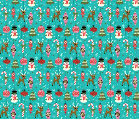 Vintage Ornaments fabric by lisa_kubenez on Spoonflower - custom fabric