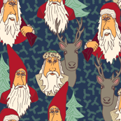 Cartoon Santa Vintage Styles