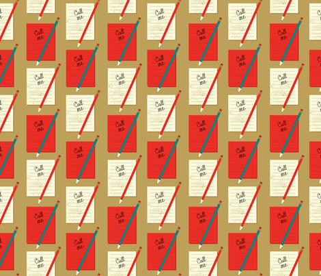Take a Message Red fabric by mintgreensewingmachine on Spoonflower - custom fabric