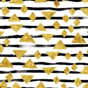 Stripe Gold Diamond