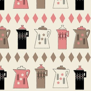 Coffee Pots in Cream