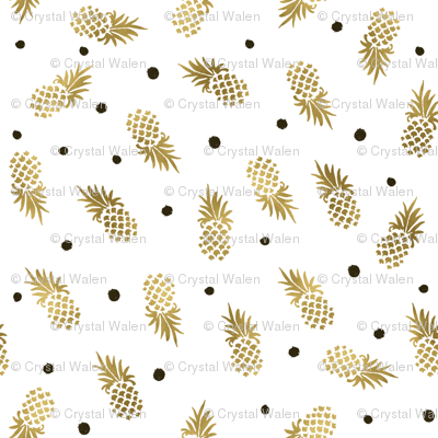 Gold Pineapple Dots
