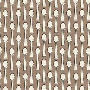 Spoons in brown