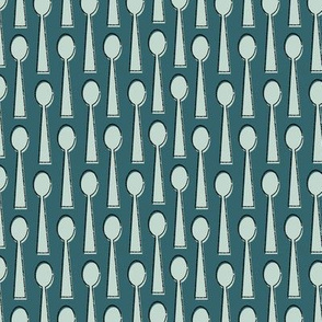 Spoons in Teal