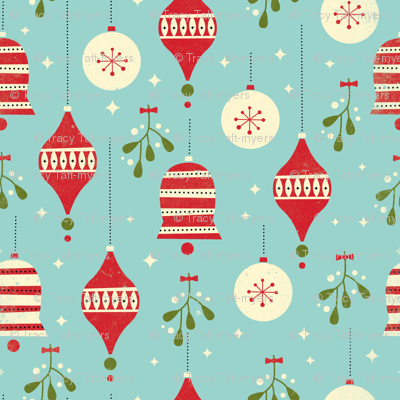 Ornaments and Mistletoe