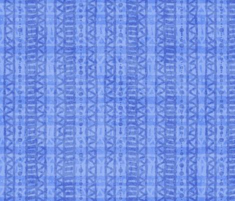 Mudcloth Plaid Periwinkle 200 fabric by kadyson on Spoonflower - custom fabric