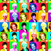 Golden Girls Fabric Wallpaper Gift Wrap