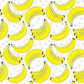 geometric bananas on white