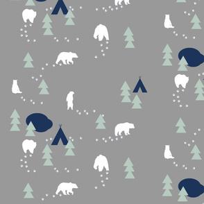 Bear Trail - grey