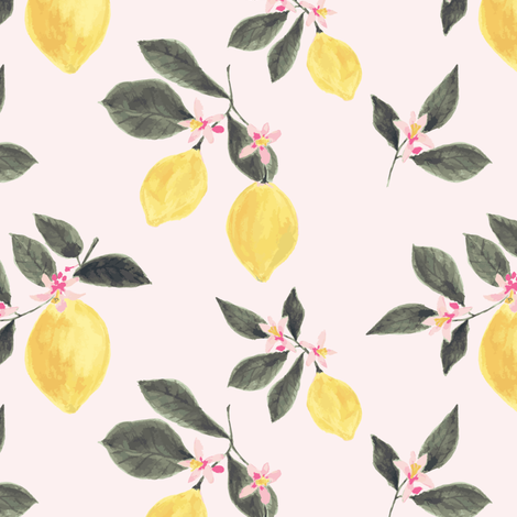 Pink lemonade fabric by mintpeony on Spoonflower - custom fabric