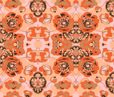 Pop Poppies fabric by texstylish on Spoonflower - custom fabric