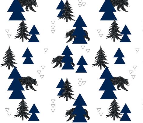 geo_bear fabric by buckwoodsdesignco on Spoonflower - custom fabric