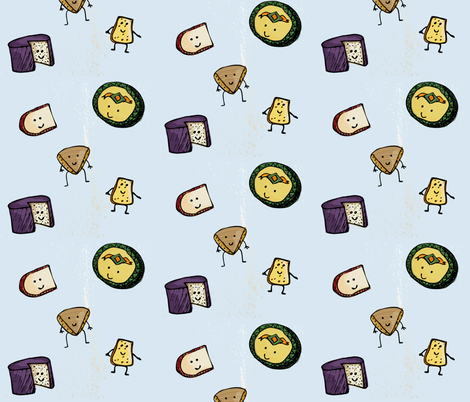 Say Cheese, Please! fabric by introspectivenarwhal on Spoonflower - custom fabric