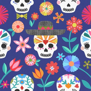 Mexican Fiesta Fabric Wallpaper Gift Wrap