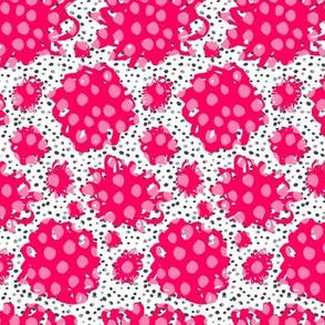 Pink marker doodle flowers