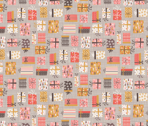 Vintage Christmas Presents fabric by martamunte on Spoonflower - custom fabric