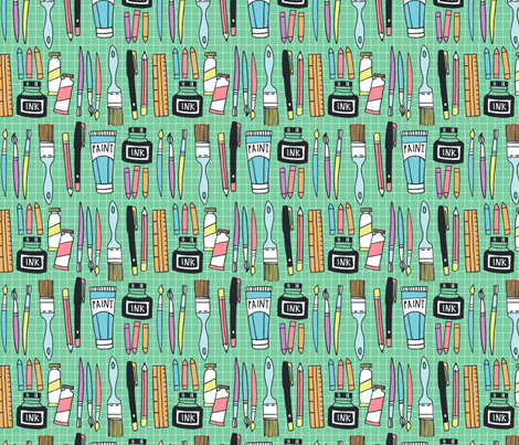 art and design fabric by laura_may_designs on Spoonflower - custom fabric