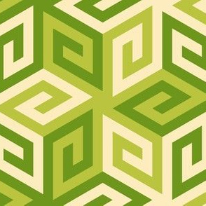greek cube : green apples