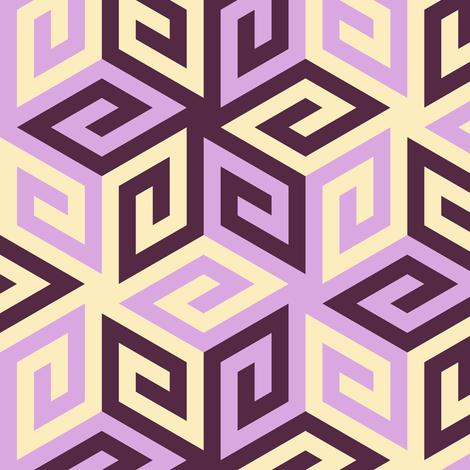 05636808 : greek cube : twilit amethyst skies fabric by sef on Spoonflower - custom fabric