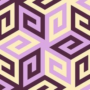 05636808 : greek cube : twilit amethyst skies