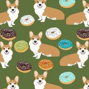 corgi donuts cute corgi novelty print for corgi owners corgi dog food funny corgi print