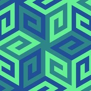 05637002 : greek cube : summer ocean
