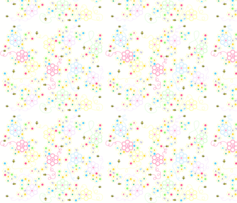 Sewing Bee Pastel fabric by squeakyangel on Spoonflower - custom fabric