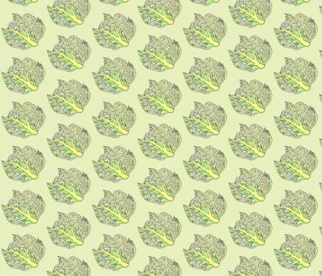 Cauliflower-green fabric by cariannehamilton on Spoonflower - custom fabric