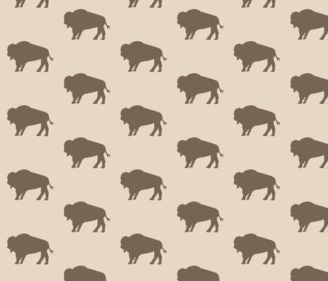 Bison Herd Earth fabric by mariah_girl on Spoonflower - custom fabric