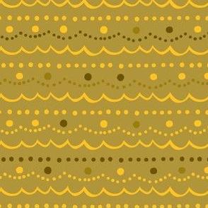 Vintage Ornament Collection - Gold Trim