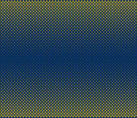 Michigan Blue and Gold fabric by khaus on Spoonflower - custom fabric