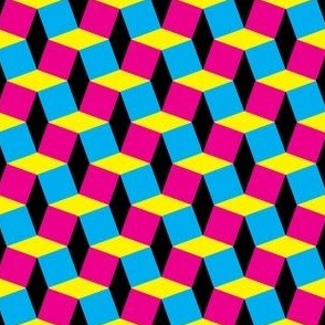 CMYK Geometic Comic 3D Effect
