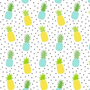 pineapples + sky blue :: fruity fun