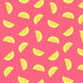 lemon slices pink :: fruity fun