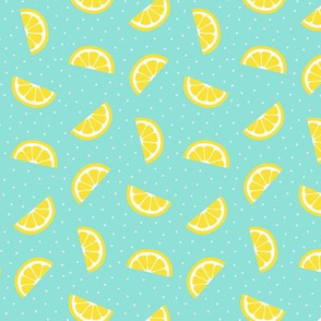 lemon slices sky blue :: fruity fun