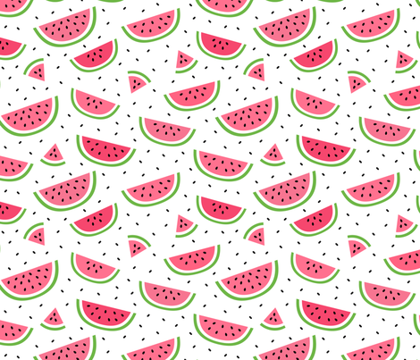 watermelons :: fruity fun bigger fabric by misstiina on Spoonflower - custom fabric