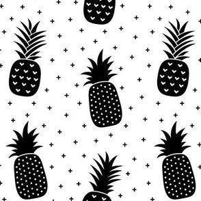 pineapples + black white :: fruity fun bigger