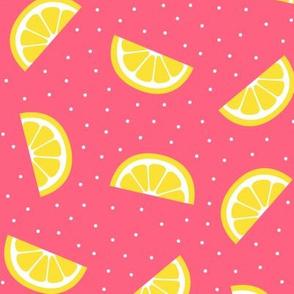 lemon slices pink :: fruity fun bigger