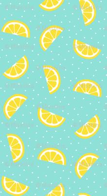 lemon slices sky blue :: fruity fun bigger