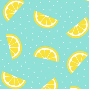 lemon slices sky blue :: fruity fun bigger