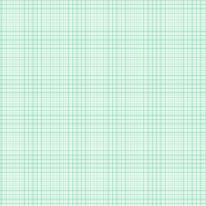 plaid mint green :: fruity fun