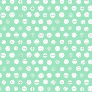 hello hi hey mint green :: fruity fun