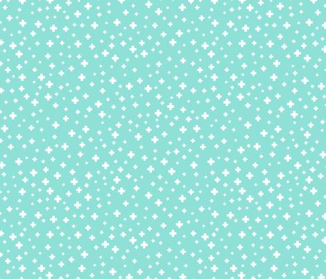 positive plus sky blue :: fruity fun fabric by misstiina on Spoonflower - custom fabric