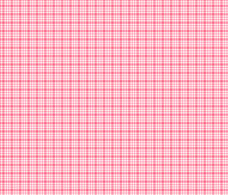 plaid pink :: fruity fun bigger fabric by misstiina on Spoonflower - custom fabric