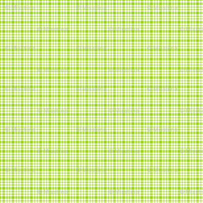 plaid lime green :: fruity fun bigger