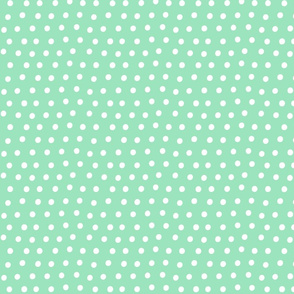 dots mint green :: fruity fun bigger