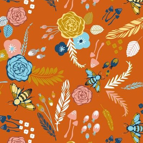 Rust Fall Floral
